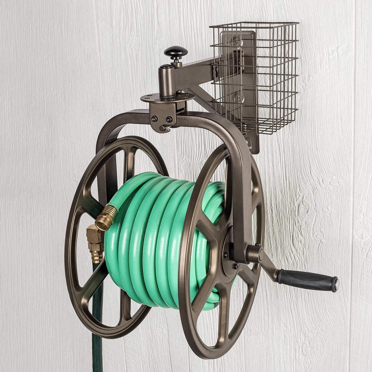 Liberty Garden 712 Single Arm Navigator Multi-Directional Garden Hose Reel