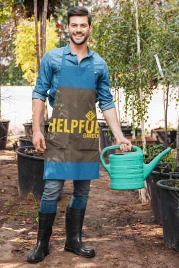 helpfulgarden.com fall gardening tips - gardener watering